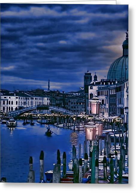 Toms Place Greeting Cards - Early Evening Venice Greeting Card by Tom Prendergast