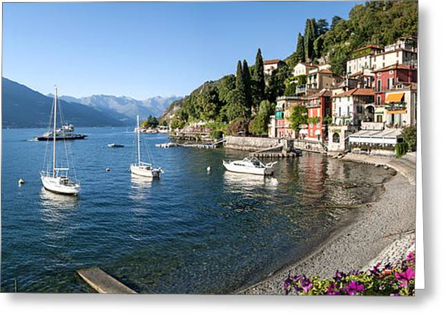 Nautical Images Greeting Cards - Early Evening View Of Waterfront Greeting Card by Panoramic Images