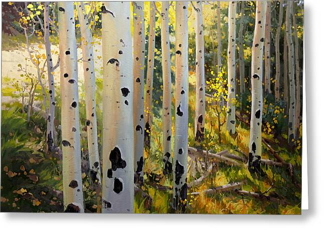 Southwestern Art Print Greeting Cards - Early Fall Colors of Aspen Greeting Card by Gary Kim