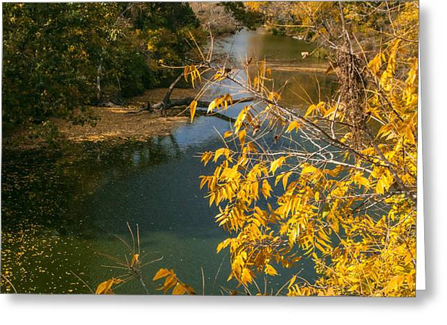Early Fall On the Navasota Greeting Card by Robert Frederick