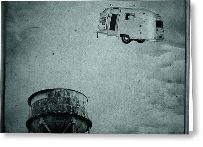 Stream Greeting Cards - Early Historic Airstream Flight Greeting Card by Edward Fielding