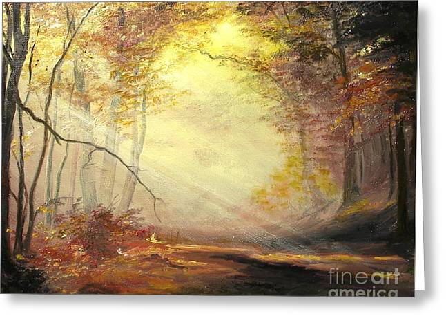 Landscape Posters Greeting Cards - Early in The Morning Greeting Card by Sorin Apostolescu