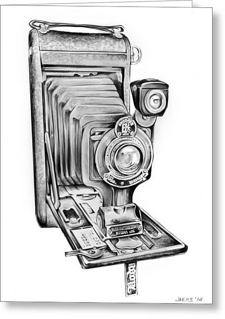 Early Kodak Camera Greeting Card by Greg Joens