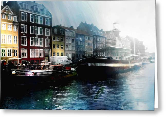 Historic Ship Greeting Cards - Early Light Greeting Card by Barbara D Richards