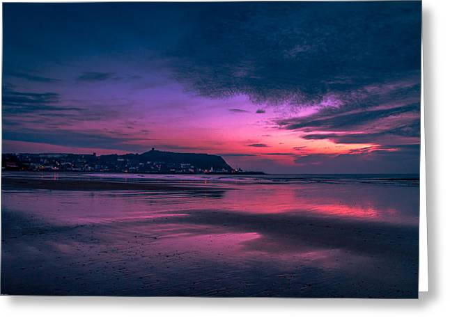 Recently Sold -  - North Sea Greeting Cards - Early Light. Greeting Card by Cliff Miller