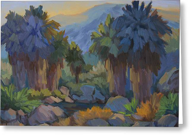 Early Spring Greeting Cards - Early Light Indian Canyon Greeting Card by Diane McClary