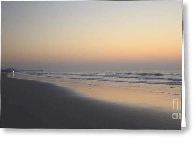 Atlantic Beaches Greeting Cards - Early Light Greeting Card by Teresa Mucha