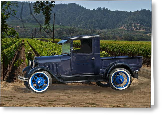 Family Car Greeting Cards - Early Model A Pick Up Greeting Card by Dave Koontz