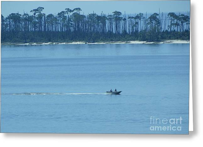 Panama City Beach Greeting Cards - Early Moring Boaters Greeting Card by Joseph Baril
