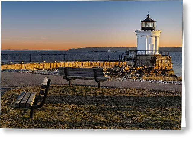 Sunrise Greeting Cards - Early Morning At Bug Lighthouse Greeting Card by Susan Candelario