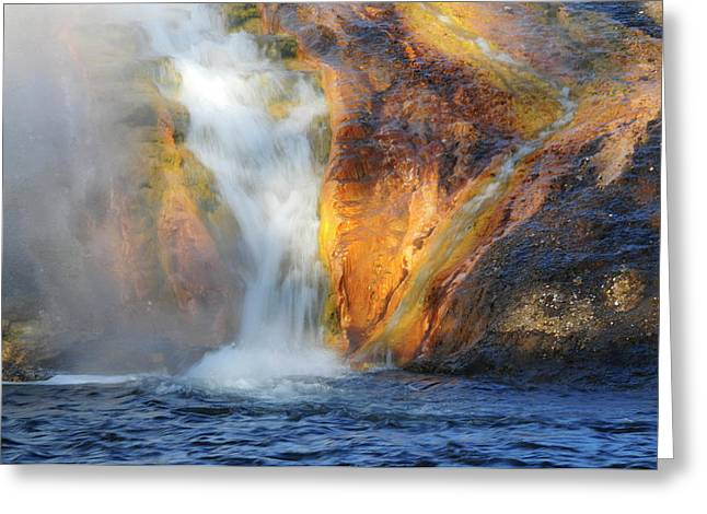 Early Morning At The Firehole River Greeting Card by Michel Hersen