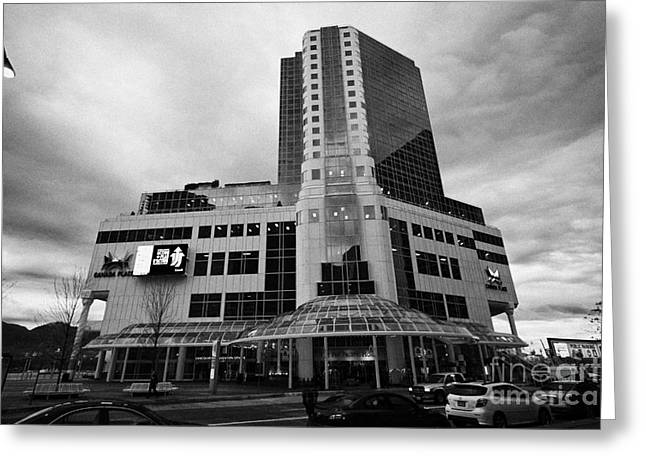 North Vancouver Greeting Cards - early morning at the pan pacific hotel canada place building Vancouver BC Canada Greeting Card by Joe Fox