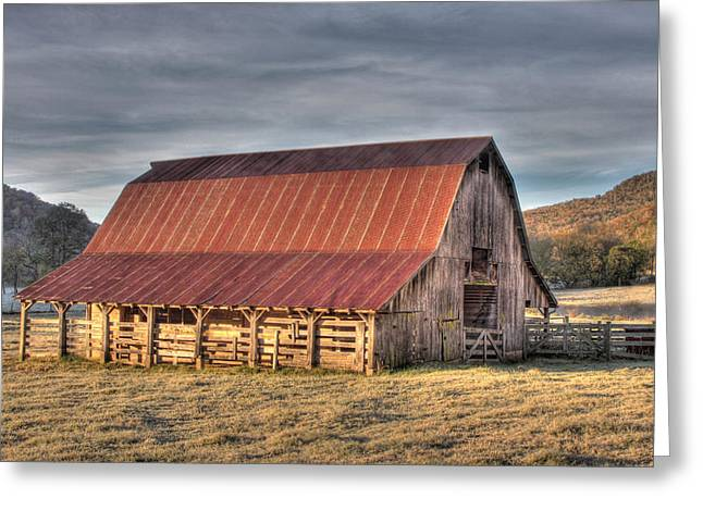 Boxley Valley Greeting Cards - Early Morning Barn Greeting Card by Tony  Colvin
