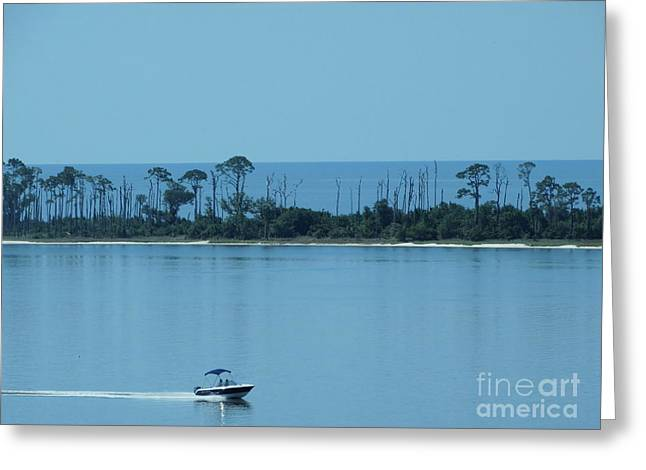 Sportfish Boat Greeting Cards - Early Morning Boating Greeting Card by Joseph Baril