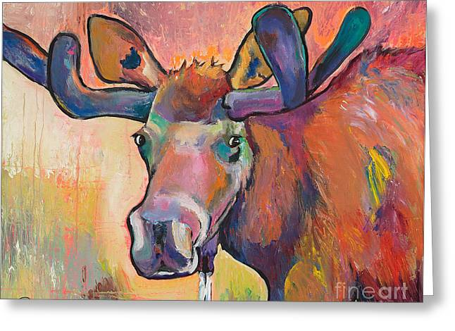 Rack Paintings Greeting Cards - Early Morning Browser Greeting Card by Pat Saunders-White