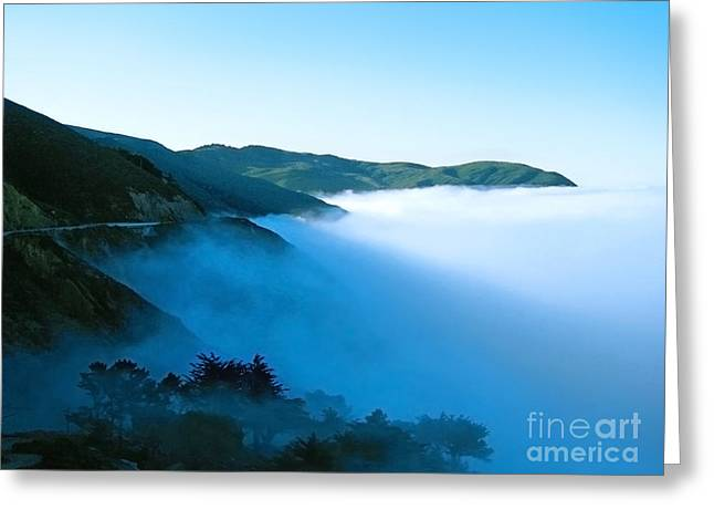 Early Morning Coastline Greeting Card by Ellen Cotton