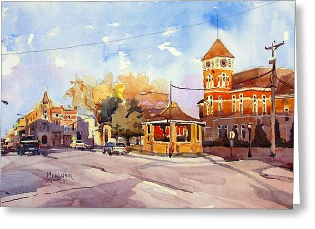Spencer Meagher Greeting Cards - Early Morning Downtown Fairfield Greeting Card by Spencer Meagher
