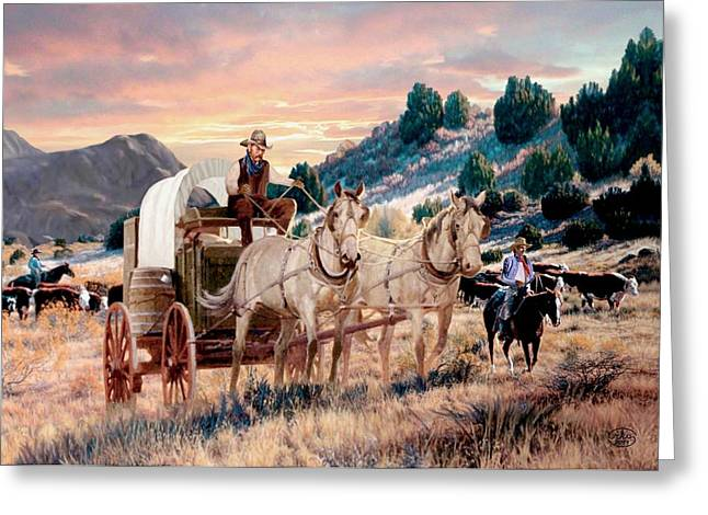 First Sunset Greeting Cards - Early Morning Drive Greeting Card by Ronald Chambers