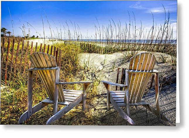 Lounge Photographs Greeting Cards - Early Morning Dunes Greeting Card by Debra and Dave Vanderlaan