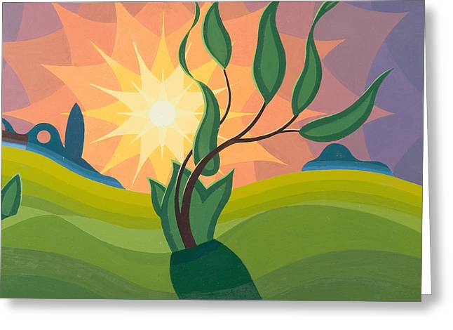 Early Morning Sun Greeting Cards - Early Morning Greeting Card by Emil Parrag