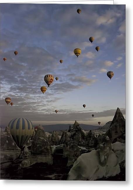 Colorful Cloud Formations Greeting Cards - Early Morning Flight Greeting Card by Phyllis Taylor