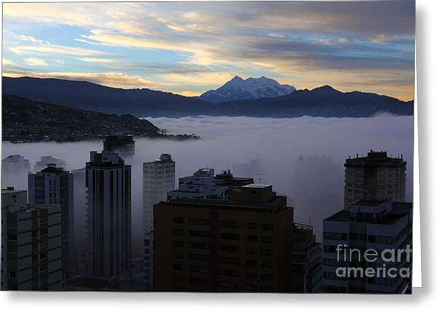 La Paz Greeting Cards - Early Morning Fog in La Paz Greeting Card by James Brunker