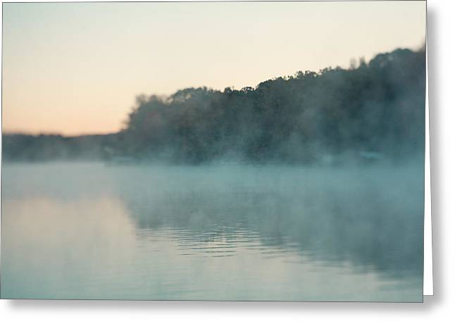 Mystic Lakes Greeting Cards - Early Morning Fog Greeting Card by Kim Fearheiley