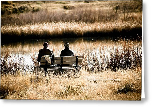 Fishing Creek Greeting Cards - Early Morning Friends Greeting Card by Marilyn Hunt