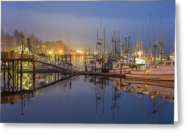 Photo Art Gallery Greeting Cards - Early Morning Harbor Greeting Card by Jon Glaser