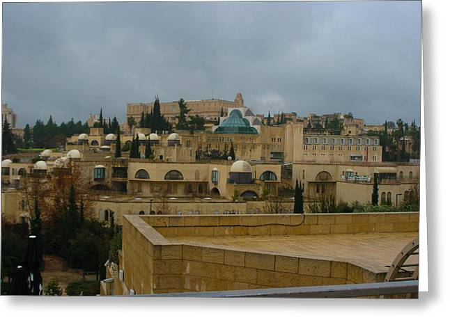 Old Western Photos Mixed Media Greeting Cards - Early Morning in Jerusalem Greeting Card by Michael Braham