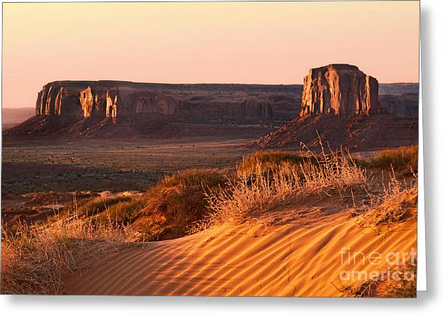 Early morning in Monument Valley Greeting Card by Jane Rix