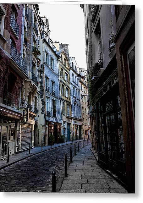 Early Morning In The Latin Quarter Greeting Card by Evie Carrier
