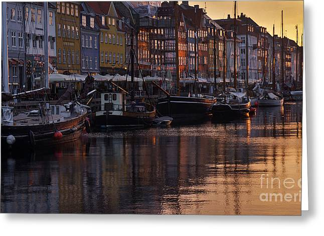 Sailing Ship Greeting Cards - Early Morning Greeting Card by Inge Riis McDonald