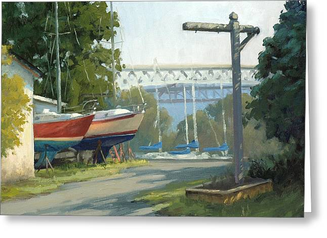 Recently Sold -  - Docked Boat Greeting Cards - Early Morning Light Greeting Card by Armand Cabrera