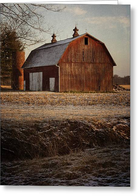 Outbuildings Greeting Cards - Early Morning Light Greeting Card by Kathleen Scanlan
