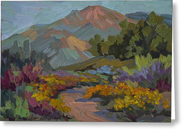 Barbara Paintings Greeting Cards - Early Morning Light Santa Barbara Greeting Card by Diane McClary