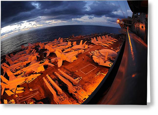 Carrier Greeting Cards - Early Morning on Deck Greeting Card by Mountain Dreams