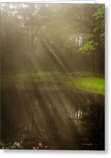 Meditative Greeting Cards - Early Morning Peace Greeting Card by Christina Rollo