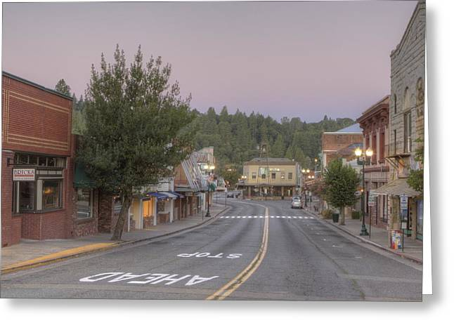 Kinkade Greeting Cards - Early Morning Placerville Greeting Card by Steve Barr