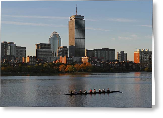 Charles River Greeting Cards - Early Morning Preparation for the Head of the Charles  Greeting Card by Juergen Roth