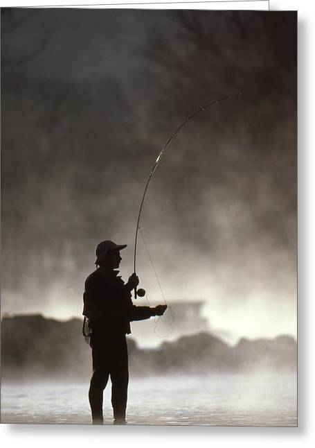 Rainbow Trout Greeting Cards - Early Morning Pursuit Greeting Card by Greg Kopriva