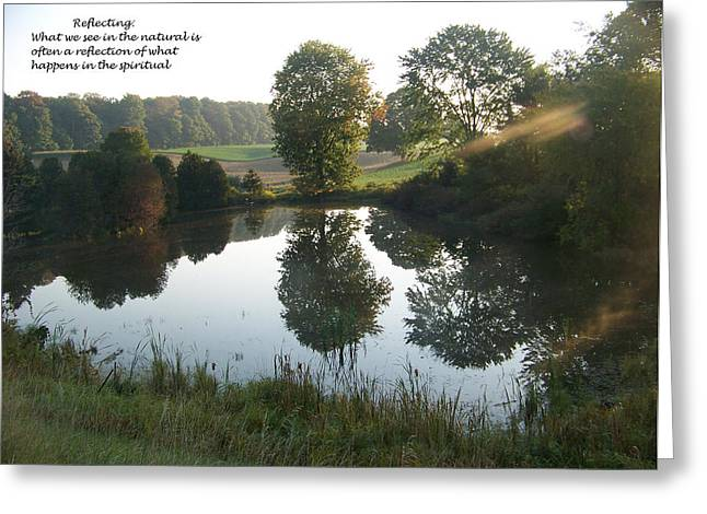 Early Morning Reflections Greeting Card by Casey Overbeek