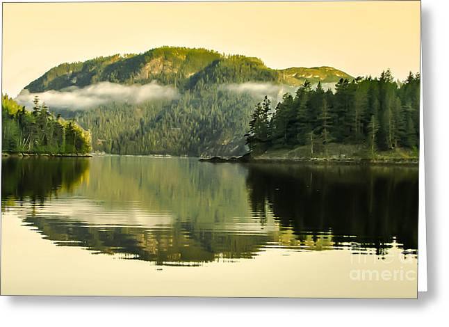 Haybale Greeting Cards - Early Morning Reflections Greeting Card by Robert Bales