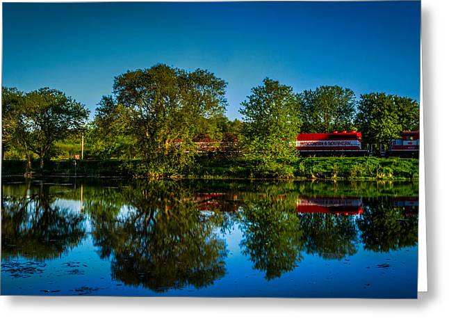Early Morning Rest Stop Greeting Card by Randy Scherkenbach