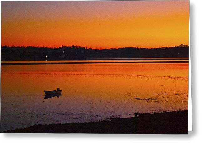 Framed Whidbey Prints Greeting Cards - Early Morning Greeting Card by Ron Roberts
