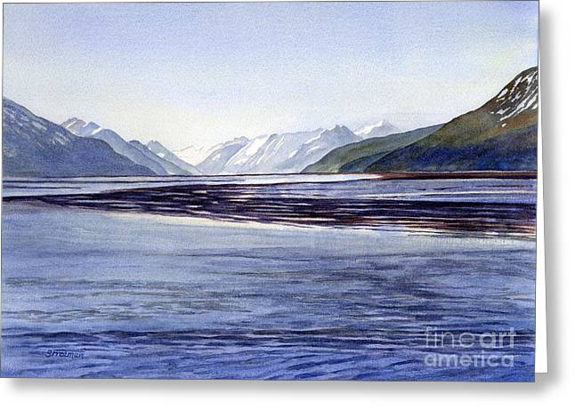 Early Morning Sun Greeting Cards - Early Morning Shadows Turnagain Arm Greeting Card by Sharon Freeman