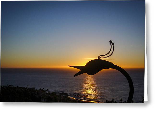 Morn Greeting Cards - Early Morning Silhouette Greeting Card by Jean Noren
