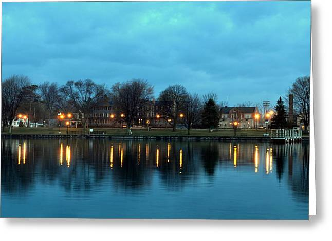 Skaneateles Greeting Cards - Early morning Skaneateles Greeting Card by Robert Green