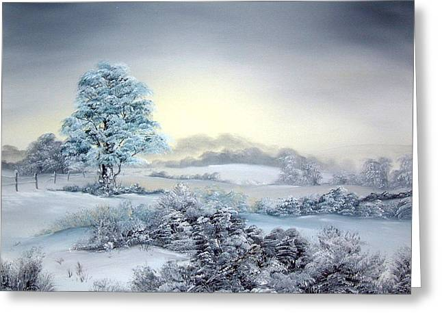 Jean Walker Greeting Cards - Early Morning Snows Greeting Card by Jean Walker