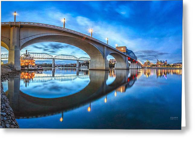 Draw Bridge Greeting Cards - Early Morning Under Market Street Bridge Greeting Card by Steven Llorca